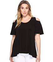 Karen Kane Plus - Plus Size Cold Shoulder Swing Top
