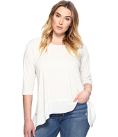 Karen Kane Plus - Plus Size Contrast High-Low Top