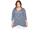 Karen Kane Plus - Plus Size 3/4 Sleeve Swing Top