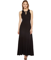 Karen Kane - Lace-Up Maxi Dress