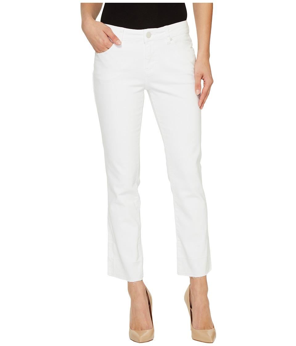 Jag Jeans Haven Ankle Flare White Denim w/ Released Hem (White/Release Hem) Women