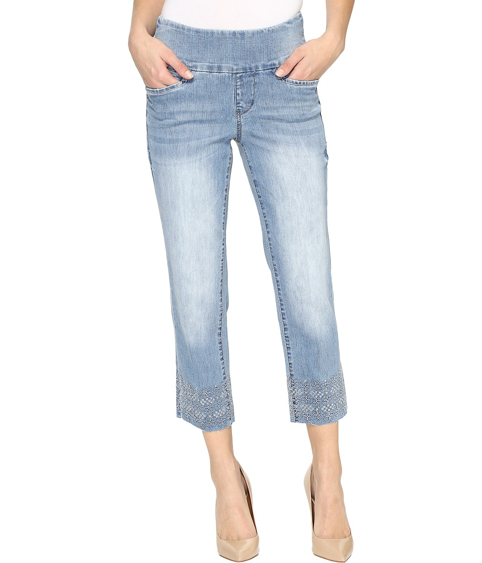 Jag Jeans Baker Pull-On Crop Comfort Denim in Blue Issue w/ Embroidered Hem (Blue Issue/Hem Embroidered) Women