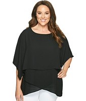 Karen Kane Plus - Plus Size Layered Crossover Top