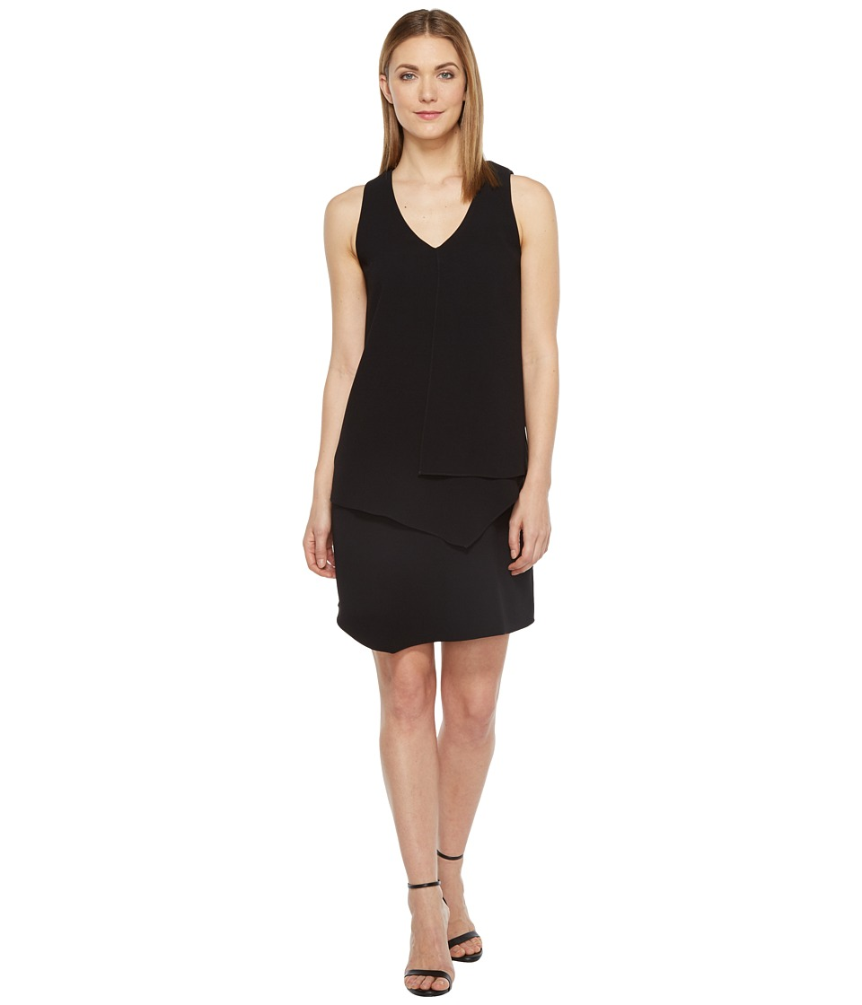 Karen Kane Layered Angle Dress (Black) Women