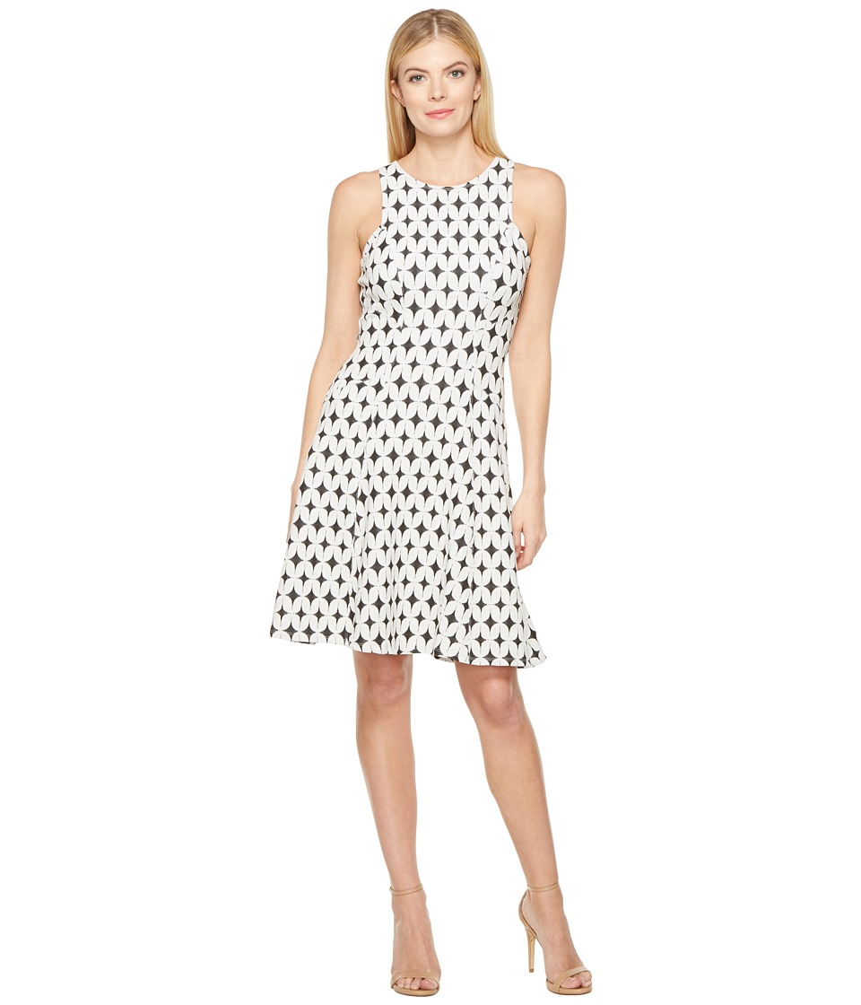 Karen Kane Jacquard Knit Flare Dress (Jacquard) Women