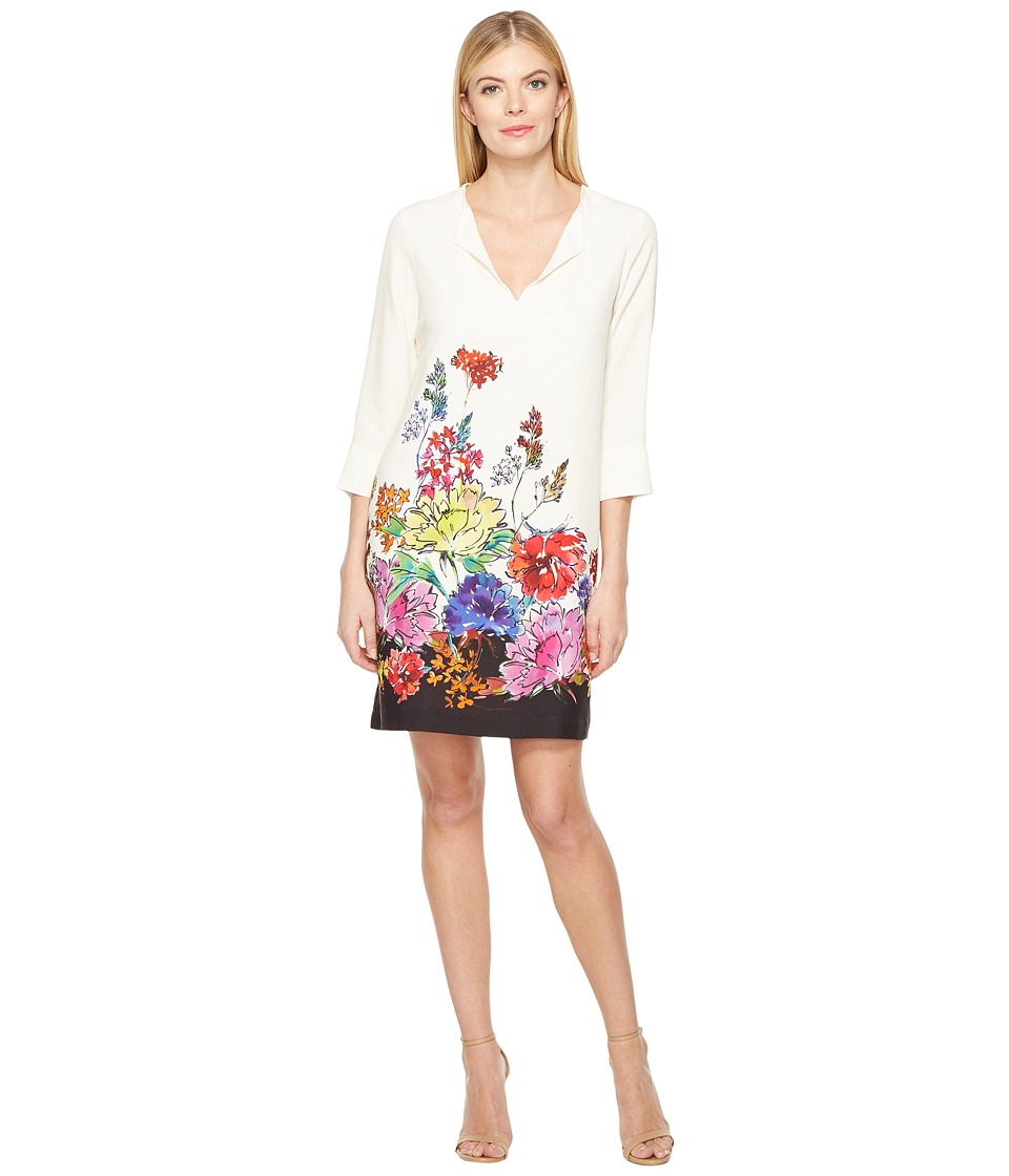 Karen Kane Floral Border Shift Dress (Print) Women