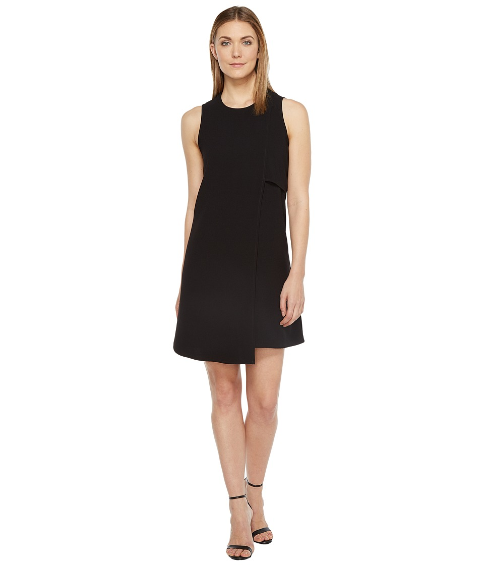 Karen Kane Asymmetric Shift Dress (Black) Women
