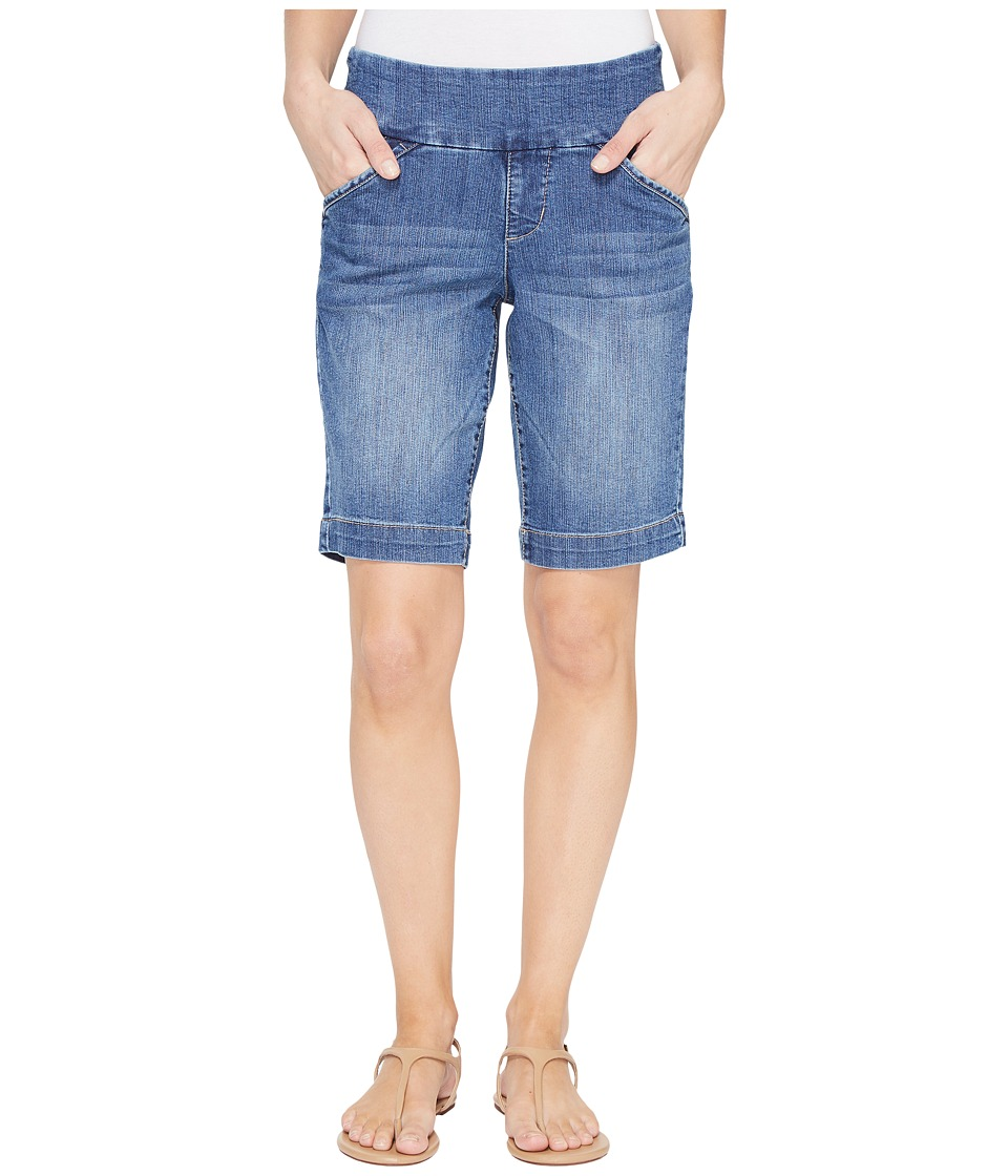 Jag Jeans - Ainsley Pull-On Bermuda Comfort Denim in Weathered Blue (Weathered Blue) Womens Shorts