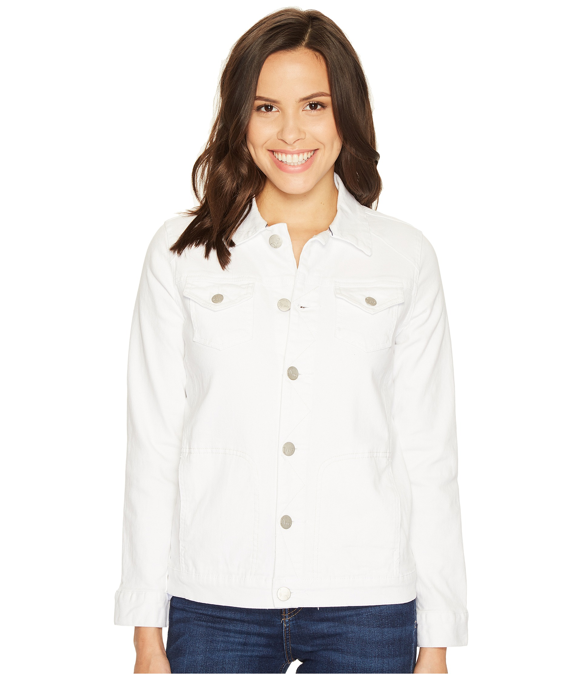 Jag Jeans Lowen Stretch Jacket in White Denim - Zappos.com Free Shipping BOTH Ways