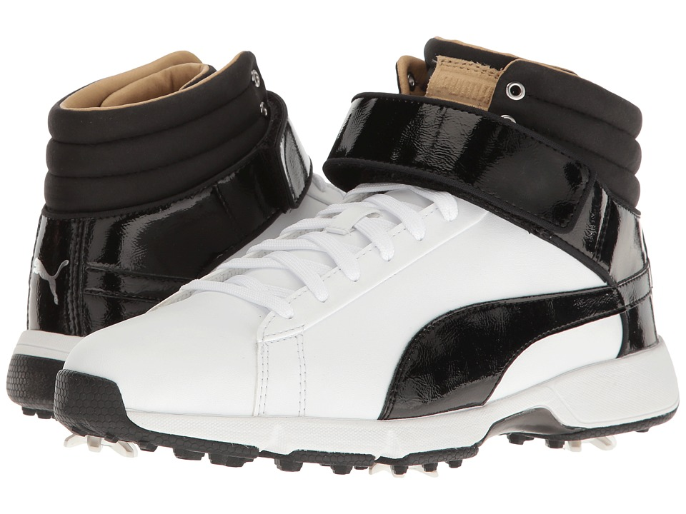 PUMA Golf Titantour Hi-Top SE Jr. (Little Kid/Big Kid) (Puma White/Puma Black) Golf Shoes