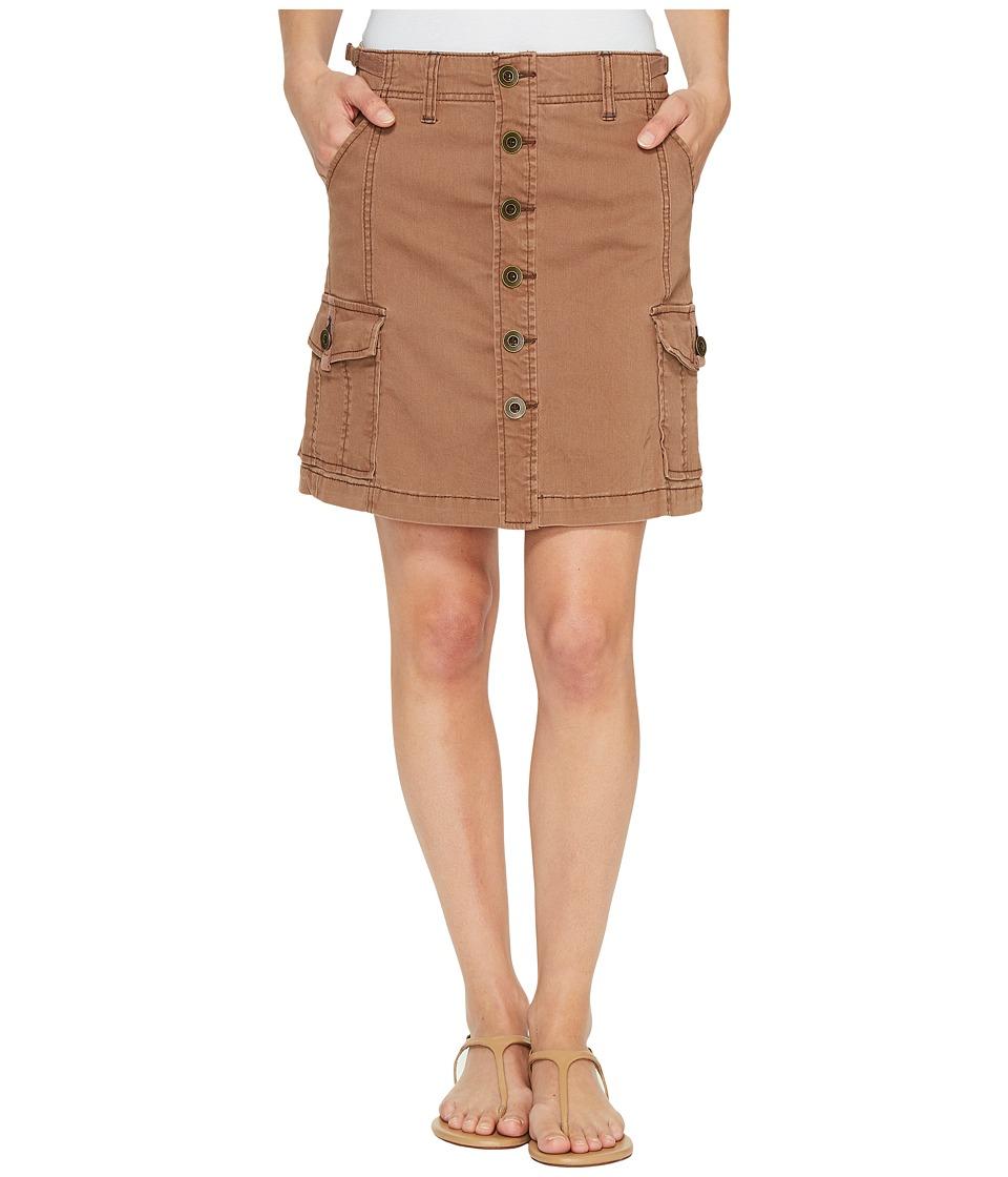 Jag Jeans Boardwalk Button Front Skirt in Bay Twill (Birds Nest) Women