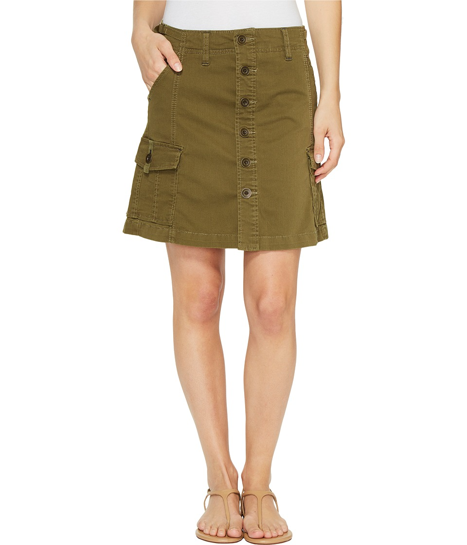 Jag Jeans Boardwalk Button Front Skirt in Bay Twill (Hedge) Women