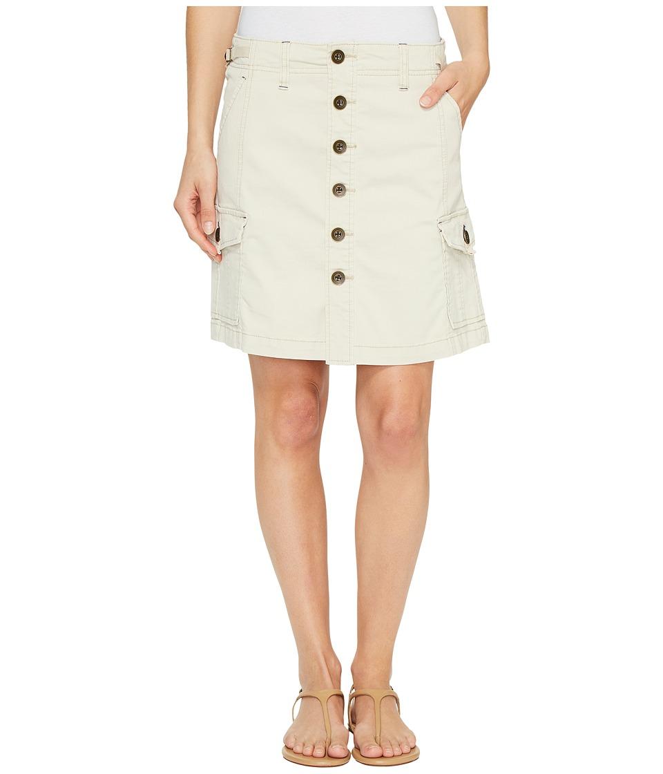 Jag Jeans Boardwalk Button Front Skirt in Bay Twill (Stone) Women