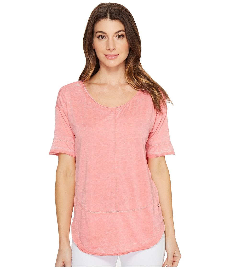 Jag Jeans Caf Tee in Burnout Jersey (Coral Reef) Women