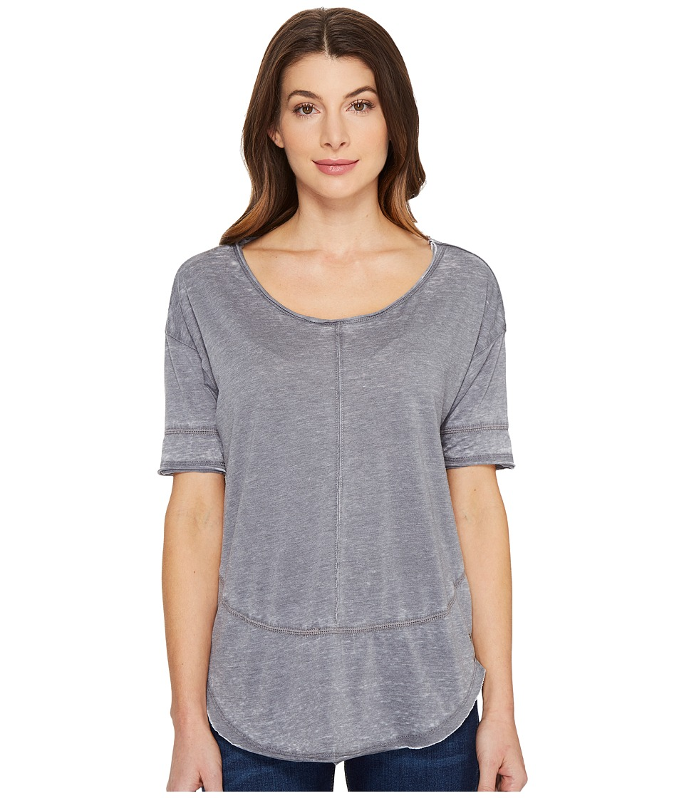 Jag Jeans Caf Tee in Burnout Jersey (Grey Stone) Women
