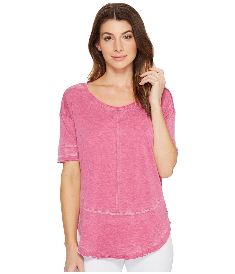 Jag Jeans Caf Tee in Burnout Jersey (Pink Geranium) Women