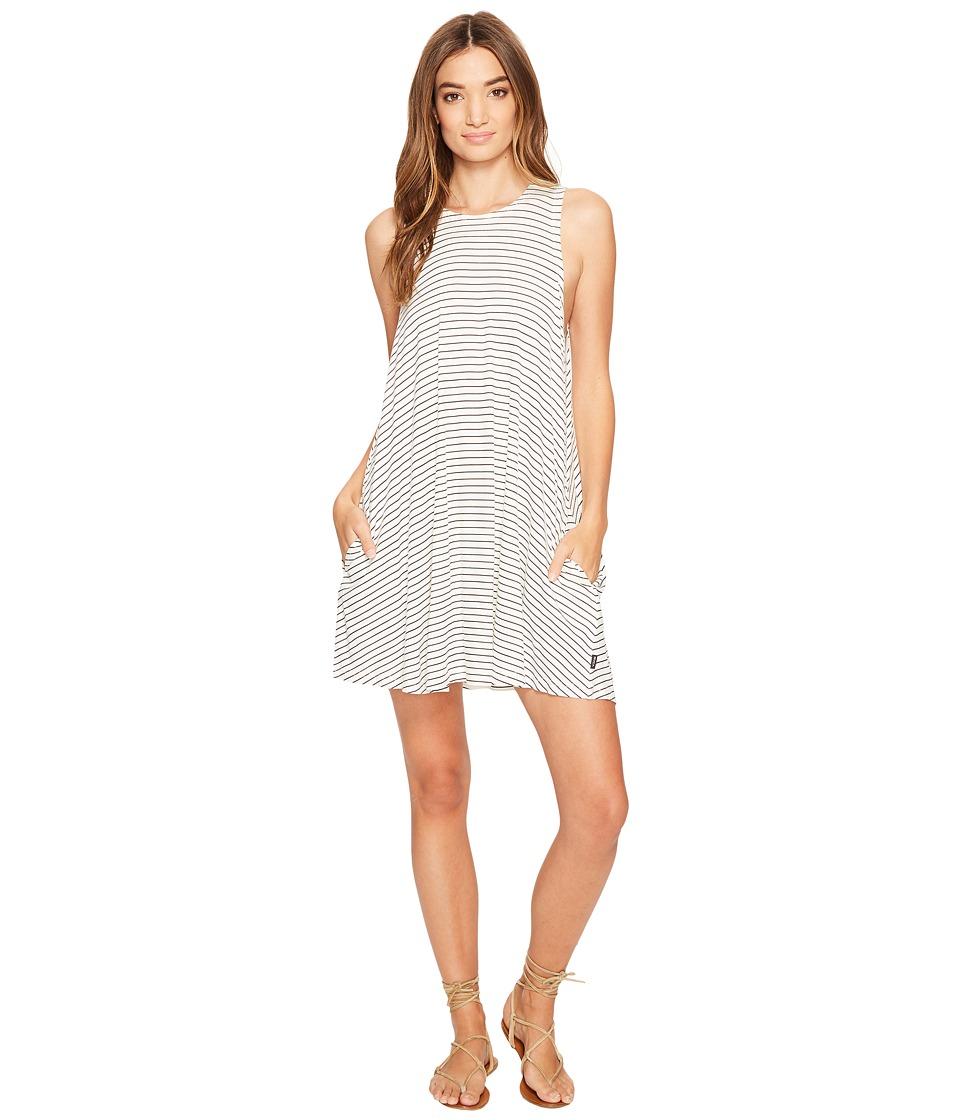 RVCA Sucker Punch Stripe Dress (Vintage White) Women