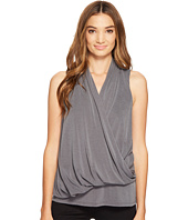 Lanston - Asymmetrical Surplice Tank Top