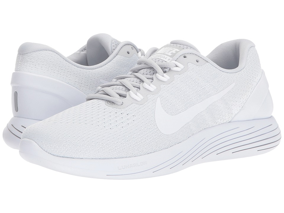 Nike LunarGlide 9 (Pure Platinum/White/White) Men's Runni...