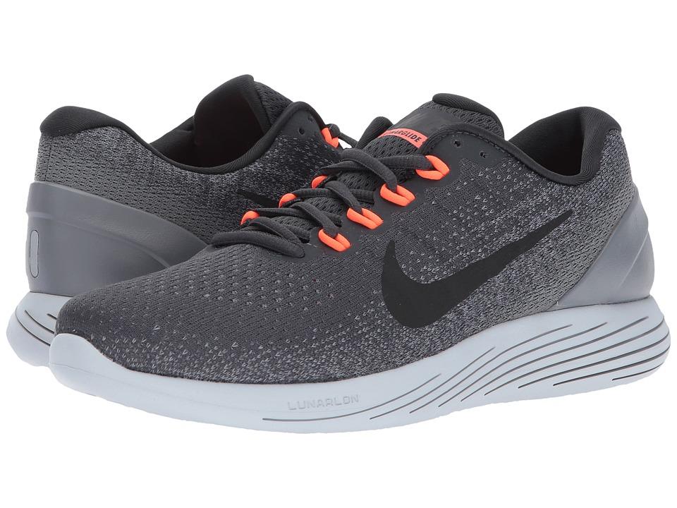 Nike LunarGlide 9 (Anthracite/Black/Cool Grey/Total Crimson) Men