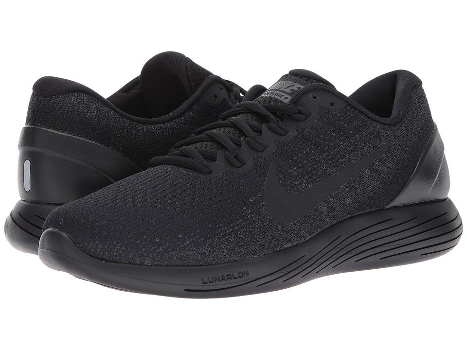 Nike LunarGlide 9 (Black/Black/Anthracite/Volt) Men