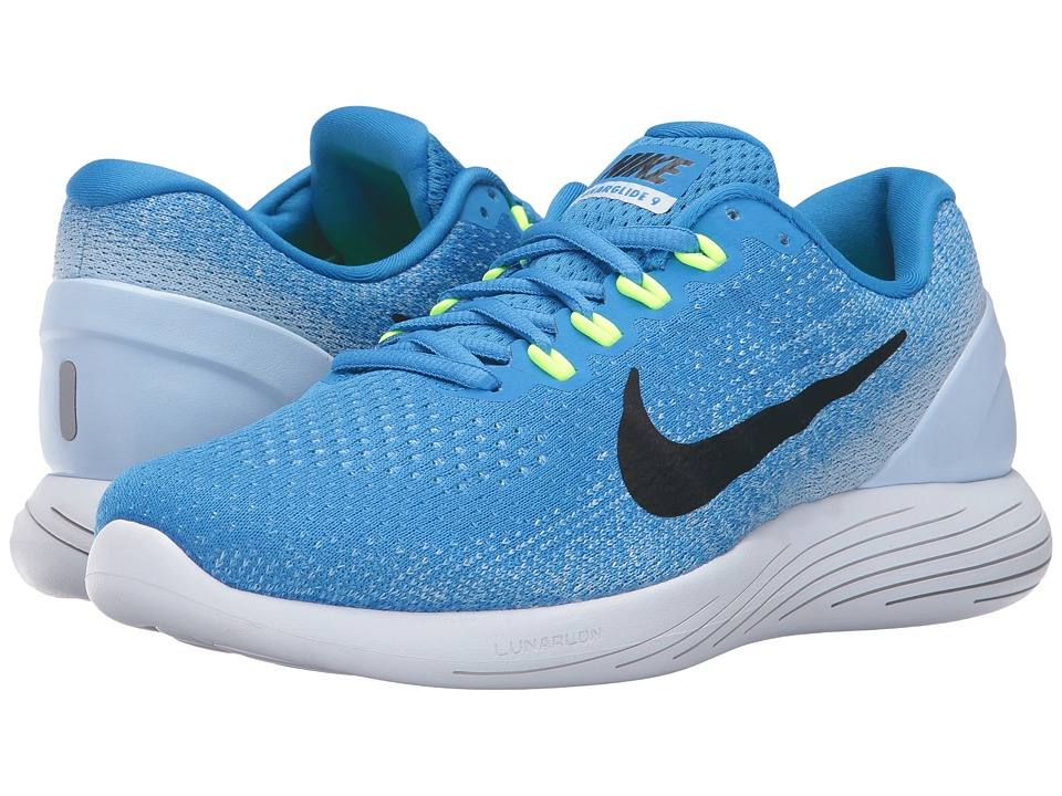 Nike LunarGlide 9 (Italy Blue/Black/Hydrogen Blue/Volt) Men