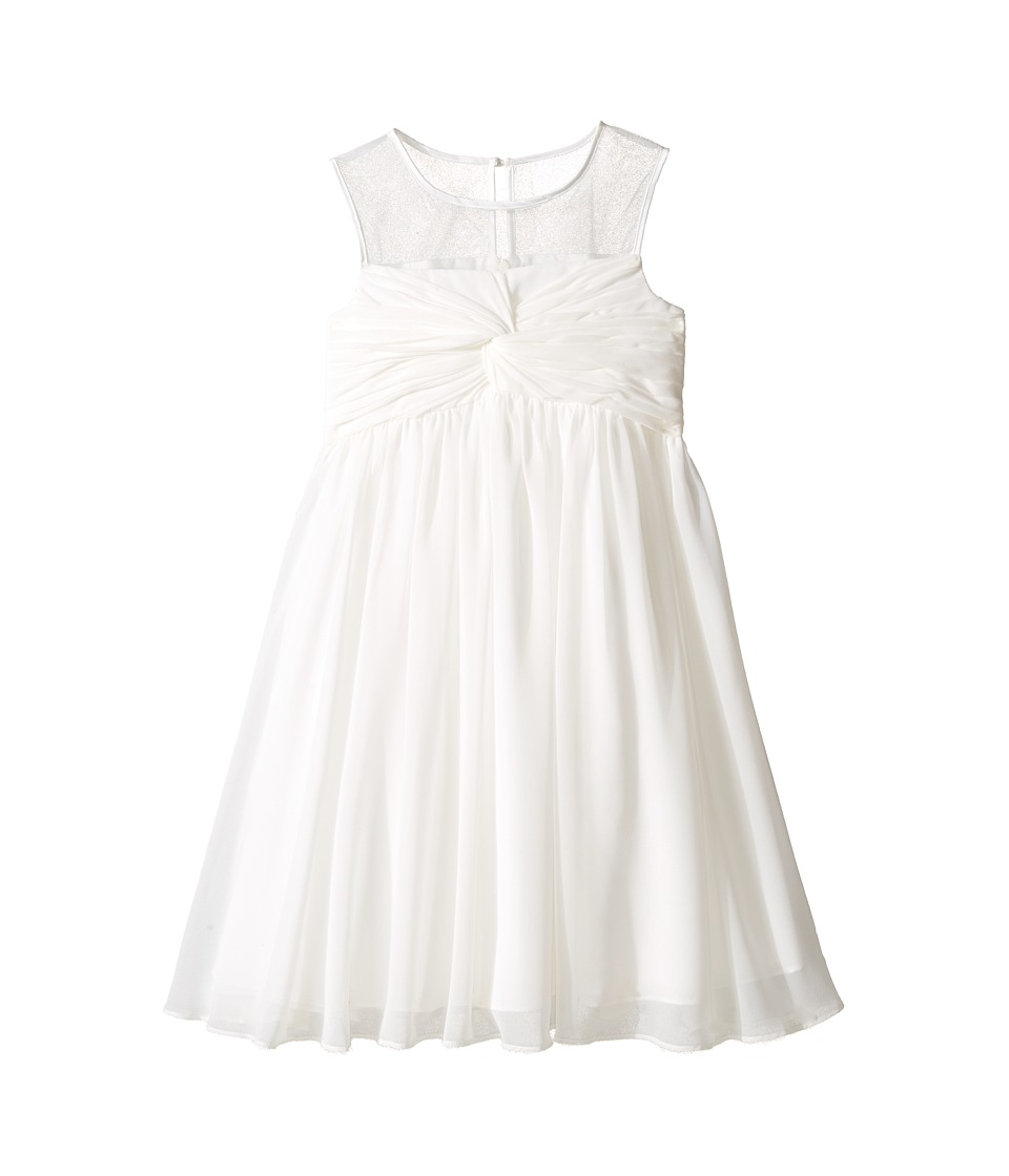 Us Angels - Sleeveless Illusion Neckline Chiffon Empire Dress