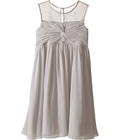 Us Angels - Sleeveless Illusion Neckline Chiffon Empire Dress (Big Kids)