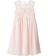 Us Angels - Sleeveless Illusion Neckline Chiffon Empire Dress (Little Kids)