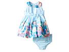 Us Angels - Matte Satin Sleeveless Peter Pan w/ Photo Reel Border Dress (Infant)
