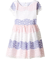 Us Angels - Stripe Lace Dress w/ Cut Out Back (Big Kids)