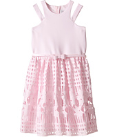 Us Angels - Scuba & Lace Sleeveless Cut Away w/ Full Skirt (Big Kids)