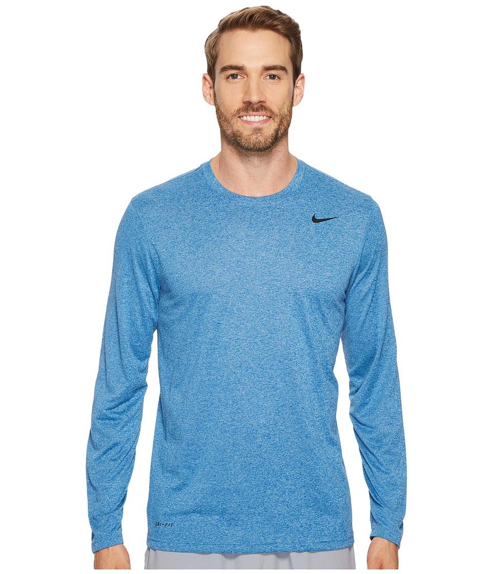 Nike Legend 2.0 Long Sleeve Tee (Blue Jay/Cerulean/Heather/Black) Men