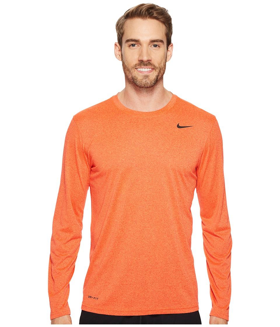 Nike Legend 2.0 Long Sleeve Tee (University Red/Hyper Crimson/Heather/Black) Men