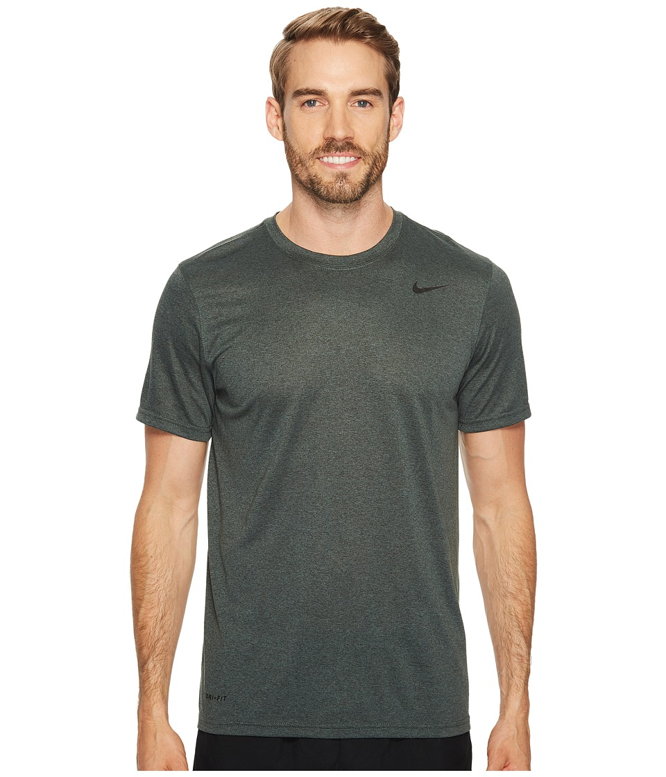 Nike Legend 2.0 Short Sleeve Tee (Outdoor Green/Vintage Green/Heather/Black) Men