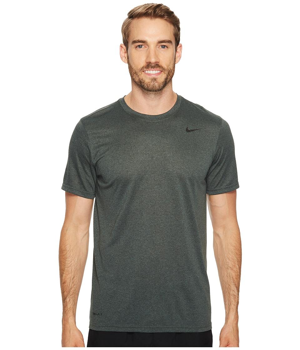 Nike Legend 2.0 Short Sleeve Tee (Outdoor Green/Vintage Green/Heather/Black) Men
