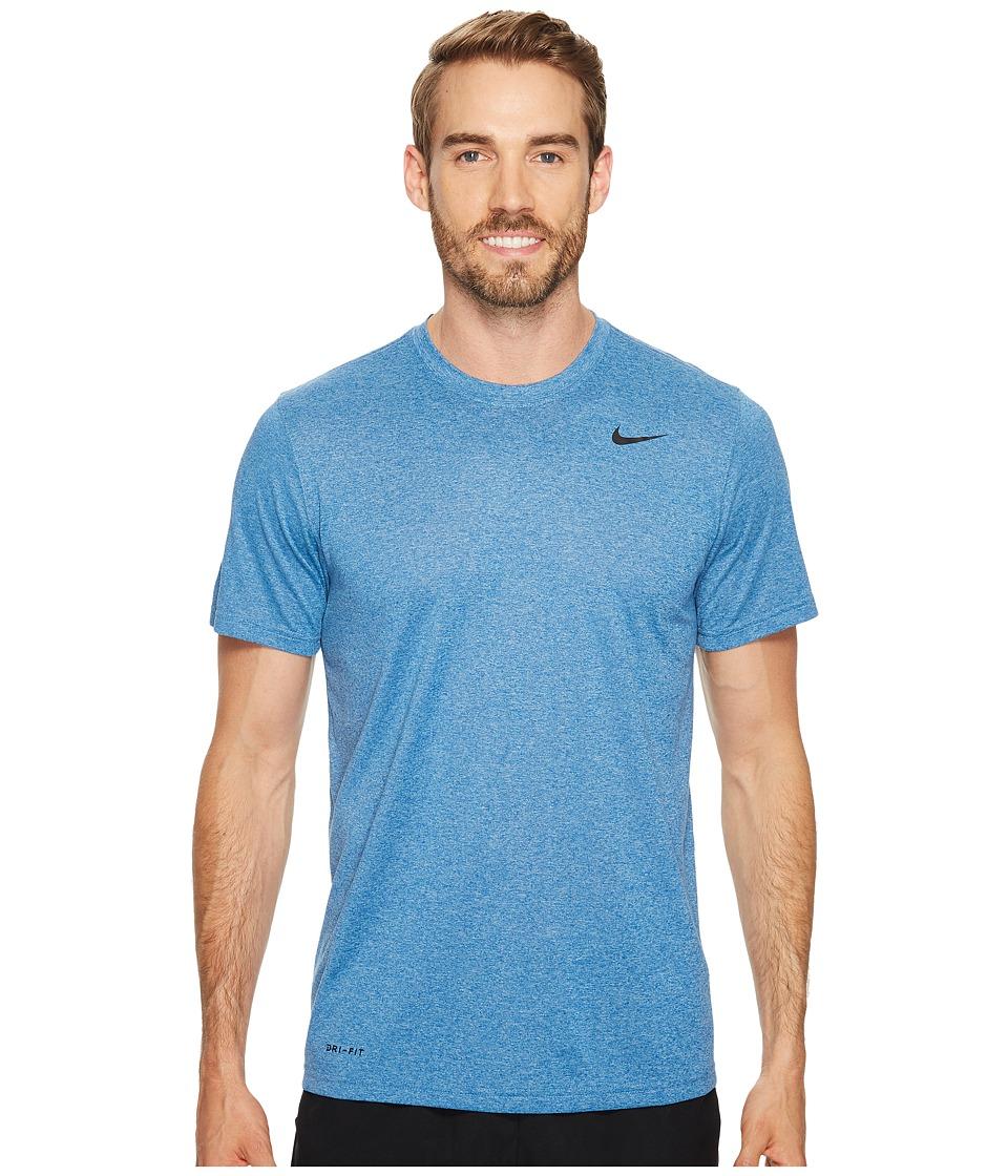 Nike Legend 2.0 Short Sleeve Tee (Blue Jay/Cerulean/Heather/Black) Men