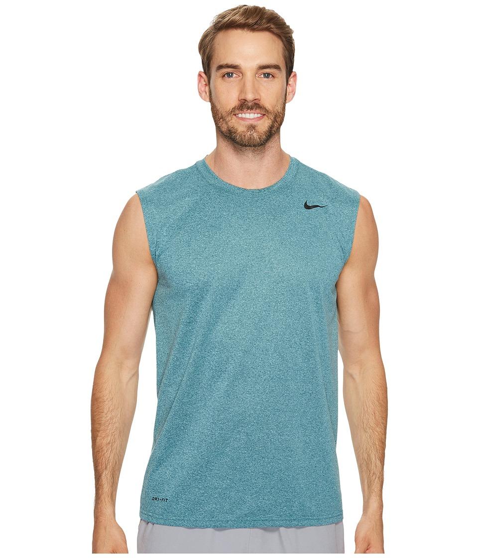 Nike Legend 2.0 Sleeveless Tee (Space Blue/Light Aqua/Heather/Black) Men