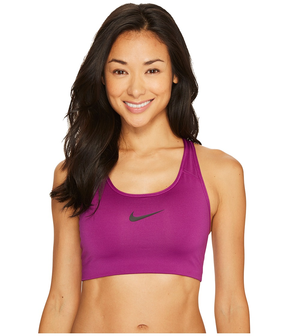 Nike Pro Classic Swoosh Floral Camo Sports Bra (Bold Berry/Night Purple) Women