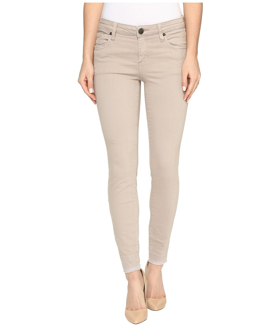 KUT from the Kloth Connie Ankle Skinny with Released Hem in Khaki (Khaki) Women