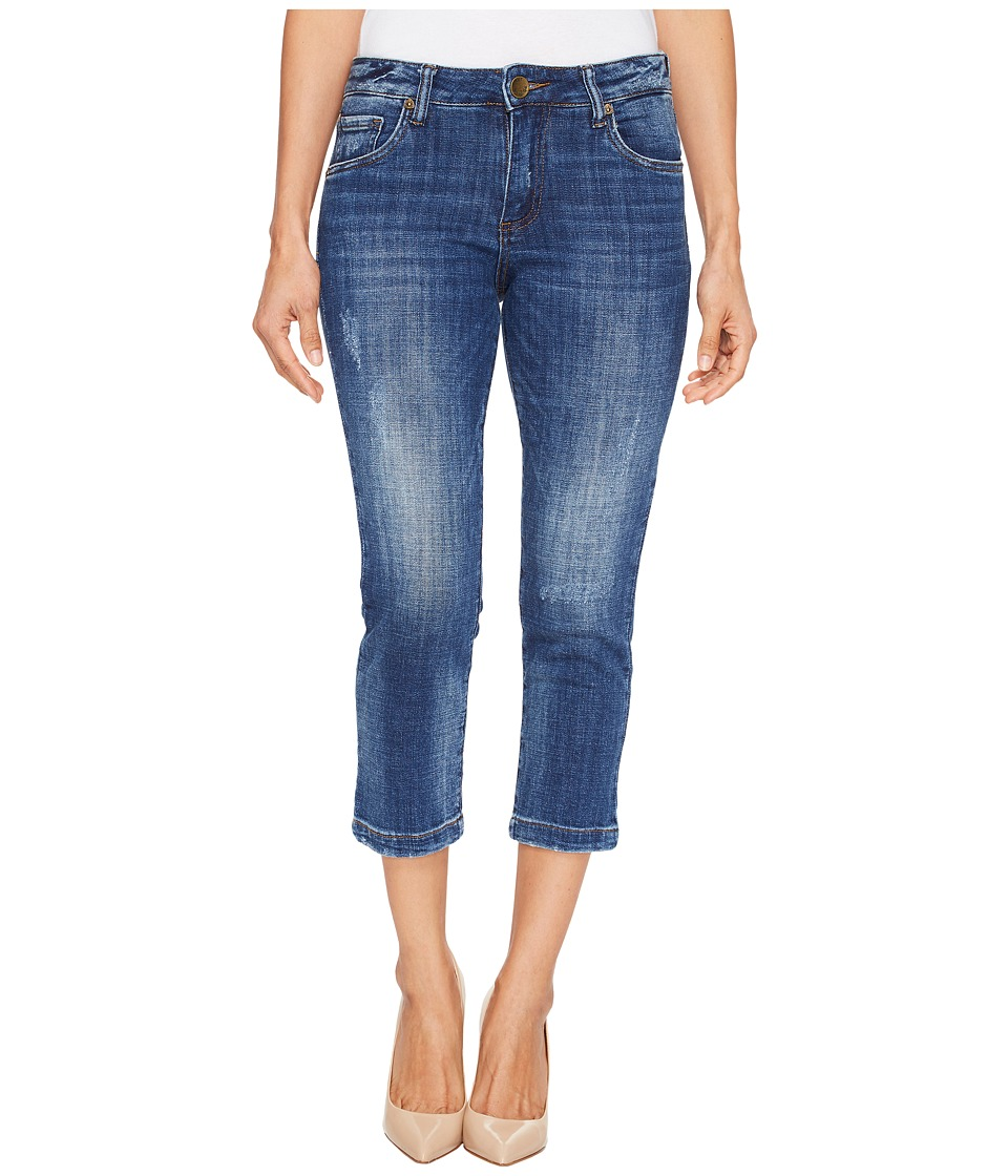 KUT from the Kloth Petite Lauren Crop Straight Leg Jeans in Entrusted/Medium Base Wash (Entrusted/Medium Base Wash) Women