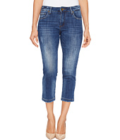 KUT from the Kloth - Petite Lauren Crop Straight Leg Jeans in Entrusted/Medium Base Wash