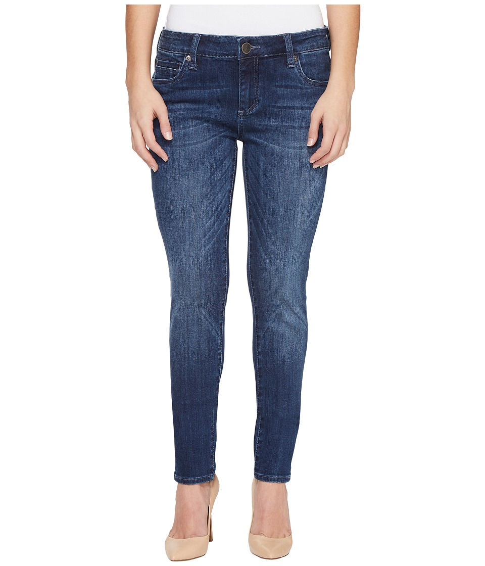 KUT from the Kloth Petite Diana Skinny in Moderation (Moderation/Dark Stone Base Wash) Women