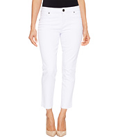 KUT from the Kloth - Petite Reese Ankle Straight Leg Jeans in Optic White
