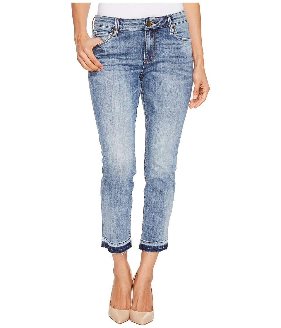 KUT from the Kloth Petite Reese Ankle Straight Leg Jeans in Motive/Medium Base Wash (Motive/Medium Base Wash) Women