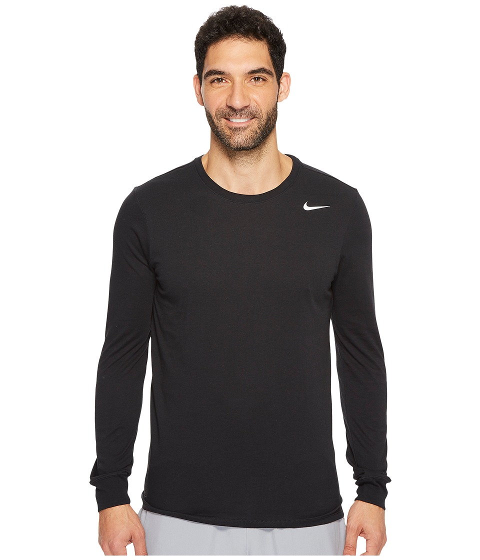 Nike Dry Training Long Sleeve T-Shirt (Black/Black/White) Men