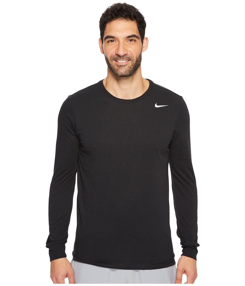 Nike Dry Training Long Sleeve T-Shirt (Black/Black/White) Men