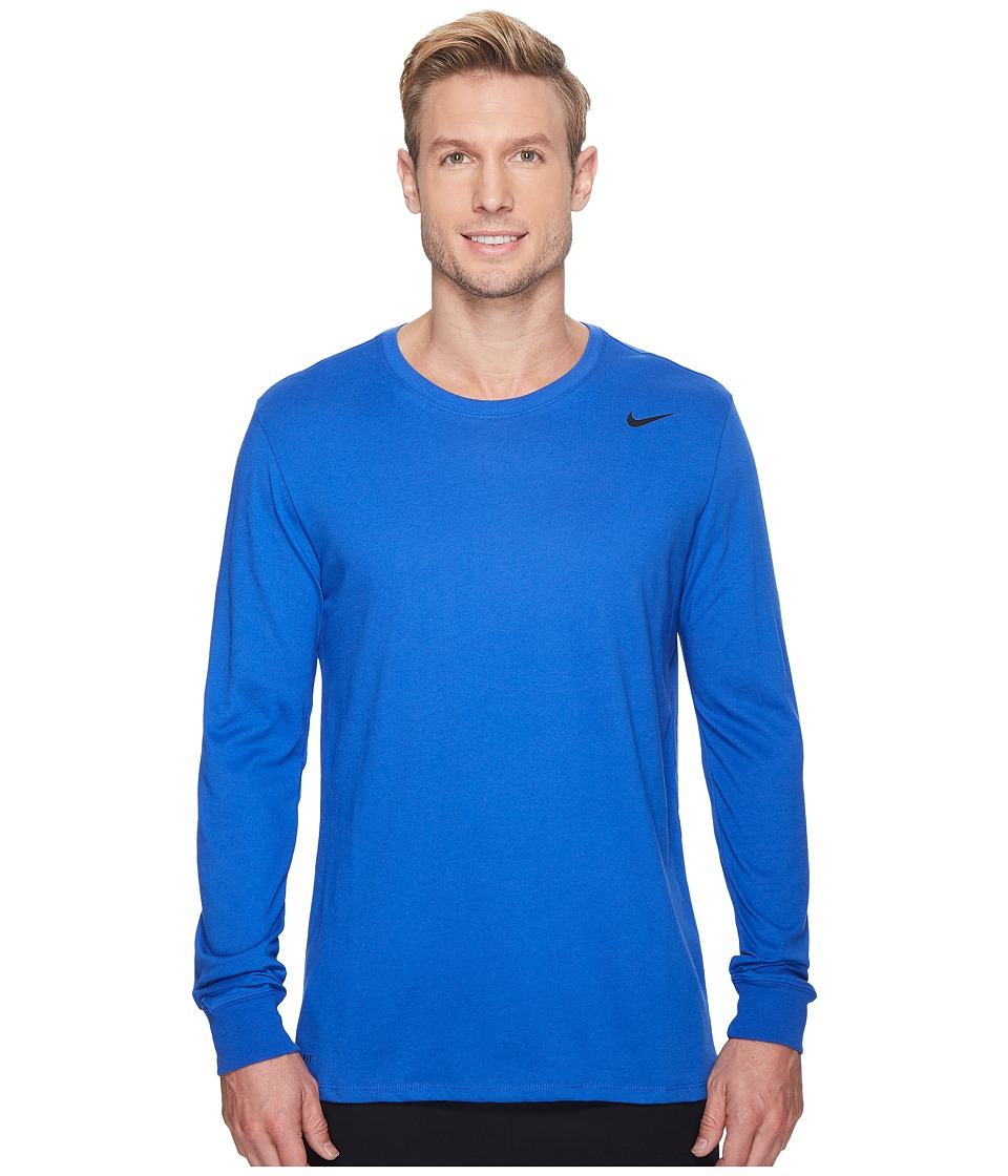 Nike Dry Training Long Sleeve T-Shirt (Game Royal/Game Royal/Black) Men