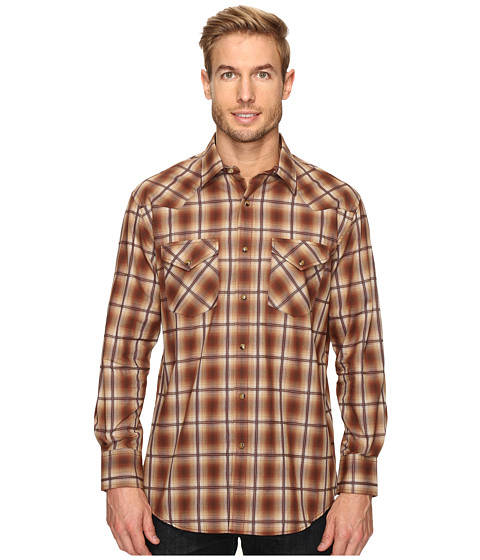 Pendleton Long Sleeve Frontier - Brown Ombre