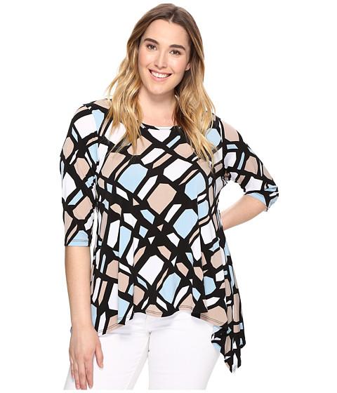 Karen Kane Plus Plus Size 3/4 Sleeve Handkerchief Top
